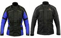 Mens Motorcycle Jacket Winter Long Sleeve Cordura Armour Rain Waterproof Coat SA