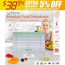 5 Trays BPA Free Food Dehydrator Beef Jerky Fruit Dryer Maker Household