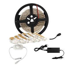 SUPERNIGHT® 5M 3528 600Leds Cool White LED Light Strip IP65+White Dimmer+Power