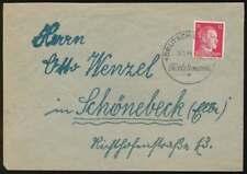 Sudetenland Beleg mit SST DEUTSCH-LIEBAU 6.1.44 TEXTILWAREN (67815)