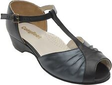 Cosyfeet Extra Roomy Lilia Sandal Black UK 3.5