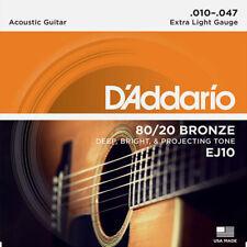 Saiten Westerngitarre D'Addario EJ10 .010-047 Gitarren Saiten Gitarrensaiten NEU