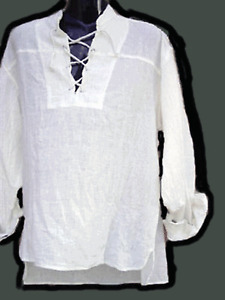 BNWT Pirate shirt,white color,l/s Cheese cloth..Size M