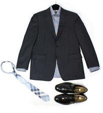 CANALI 100% wool Striped Gray Blazer Jacket SIZE US 40 R, EU 50