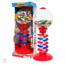 Gumball Vending Machine With Stand Spiral Bank Lighted Gum Dispenser Candy Fun