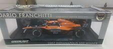 1/18 Greenlight 2007 Andretti Green signed  Indy 500 Winner Dario Franchitti