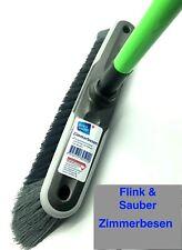 Flink /& Sauber-Zimmerbesen Stubenbesen Kunststoffbesen  mit Schraubgewinde Grün