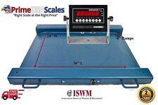 2500 Lb X 05 Lb Optima Scale Op 917 Lightweight Portable Drum Scale