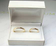 Anillo boda de oro amarillo n. 2 piezas para novias y novios bandas