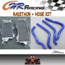 R&L ALUMINUM RADIATOR AND HOSE FOR KAWASAKI KX125 1990 1991 1992