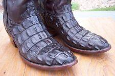 American Alligator / Crocodile Cowboy Western Boots Mens  9 D  Big Alligator !