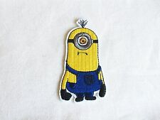 1x Despicable Me Minion patch cartoon cute kids fun Iron On Embroidered Applique