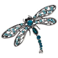 Dragonfly pin brooch bling jewelry gifts for women mom her BA14