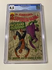 Amazing spider-man 6 cgc 4.5 off white pages 1st lizard 1963 silver age