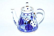 Russian Imperial Lomonosov Porcelain Teapot Chimes Ringing Bells 22k Gold Rare