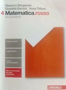 Libri usati scuola superiore. Matematica.rosso 4. Con eBook.