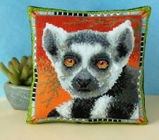 Lemur Mini Cushion Cross Stitch Kit, Sheena Rogers Designs