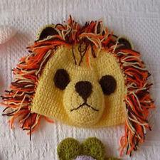 Baby Boy Lion Beanie Hat Cap Photo Props Crochet Knitted 0-3, 3-6 Months