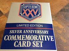 Commerative Super Bowl XXV Silver Anniversary New in Box