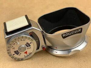 Rolleiflex and Baby 4x4 Rollei Rolleilux Meter / Hood Combined -Clean & Working