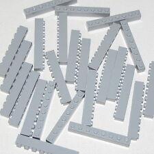 Lego Lot of 25 New Light Bluish Gray Bricks 1 x 8 Dot Building Blocks