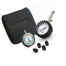 TireTek Gauge Set -Tire Pressure Gauge, Tread Depth Gauge, and Valve Caps
