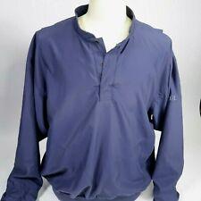 Zero Restriction Golf Outerwear Mens Pullover Golf Jacket Sz L Navy Blue