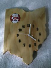 MLB Cincinnati  Reds Ohio  state wood quartz wall clock with team logo