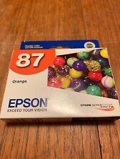 Genuine NEW Sealed Epson 87 ORANGE Ink Epson Stylus Photo R1900