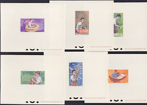 LAOS 1966 DELUXE PROOFS Music set of 6 VF