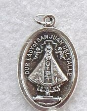 OL OUR LADY of SAN JUAN DEL VALLE Oxidized Nickel Catholic Saint Medal charm