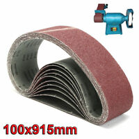 100 x 915mm Sanding Belt 40~1000 Grit For Metal Wood Grinding Abrasive New