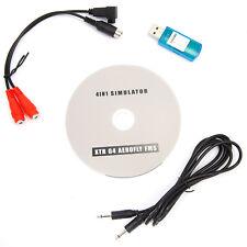 USB Flight Simulator Cable for DX5e Dx6i DX7 JR Futaba
