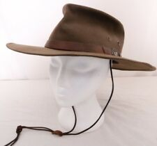 Outback Trading Company Oilskin Chinstrap Leather Band Medallion Kodiak Cap Hat