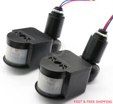 PIR Infrared Motion Sensor Detector Switch LED Light Auto On/Off 2PCS Black
