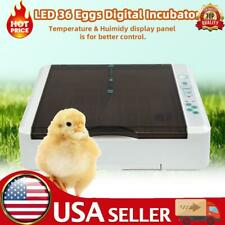 New listing 36 Egg Practical Fully Automatic Poultry Incubator with Led Light Us Plug -Usa