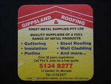 GIPPSLAND ROOFING & SHEET METAL SUPPLIES 12 GARDEN ST MORWELL 51348277 COASTER