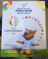 album Panini copa america 2021 preview + 100 envelopes from argentina