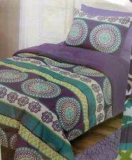 2 BUNK BED REVERSIBLE Comforter Sets FULL TWIN Purple Lime Green Turquoise Blue