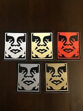 OBEY Giant  ICON variant 5x sticker lot Shepard Fairey Street Art graffiti