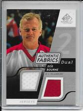 08-09 SP Game Used Bob Bourne Authentic Fabrics Dual Jersey