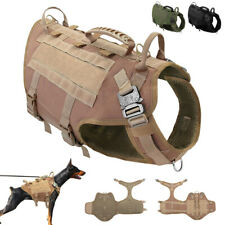 Working K9 Dogs Harness No Pull Military Tactical Molle Vest German Shepherd M L