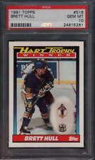 1991 Topps HOF Hart Trophy #516 Brett Hull  St Louis Blues PSA 10   348