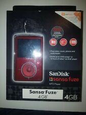 SanDisk Sansa Fuze 4GB FM/MP3 Player w/microSD slot Red