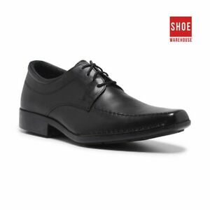 Hush Puppies MANOR Black Mens Lace-up Dress/Formal Leather Shoes