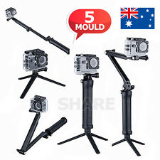 Adjustable 3 Way Monopod Pole Selfie Stick Camera Tripod Mount GoPro Hero 5 4 3+