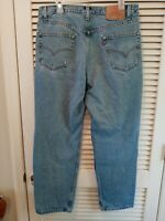 Levi's 550 Vintage Jeans  Size 36X30 Red Tab Relaxed Fit Cotton Levis