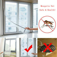 2X Insect Screen Window Netting Kit Fly Bug Wasp Mosquito Curtain Mesh Net HOT