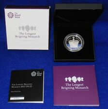 2015 UK £5 LONGEST REIGNING MONARCH PROOF COIN...SILVER (.925)...LIMITED EDITION
