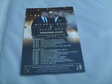 MICHAEL BALL & ALFIE BOE - Lovely colour tour flyer (Mint)